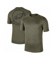 Football Men's Philadelphia Eagles Olive 2019 Salute to Service Sideline Seal Legend Performance T-Shirt