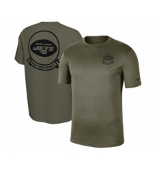 Football Men's New York Jets Olive 2019 Salute to Service Sideline Seal Legend Performance T-Shirt