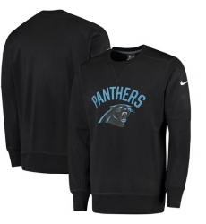NFL Men's Carolina Panthers Nike Black Sideline Circuit Performance Sweatshirt