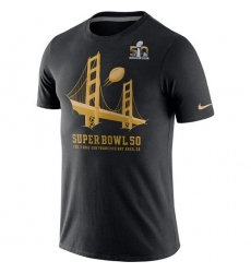 NFL Men's Carolina Panthers Super Bowl 50 Nike Hero T-Shirt - Black