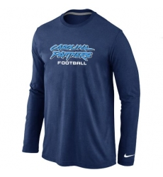 Nike Carolina Panthers Authentic Font Long Sleeve NFL T-Shirt - Dark Blue