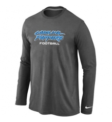 Nike Carolina Panthers Authentic Font Long Sleeve NFL T-Shirt - Dark Grey