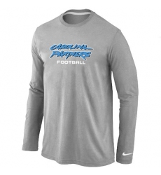Nike Carolina Panthers Authentic Font Long Sleeve NFL T-Shirt - Grey