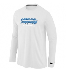 Nike Carolina Panthers Authentic Font Long Sleeve NFL T-Shirt - White