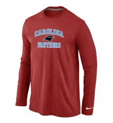 Nike Carolina Panthers Heart & Soul Long Sleeve NFL T-Shirt - Red
