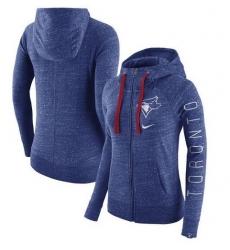 MLB Toronto Blue Jays Nike Women's Vintage Full-Zip Hoodie - Heather Royal