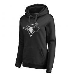 MLB Toronto Blue Jays Women's Platinum Collection Pullover Hoodie - Black