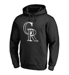 MLB Colorado Rockies Platinum Collection Pullover Hoodie - Black