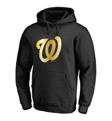MLB Washington Nationals Gold Collection Pullover Hoodie - Black