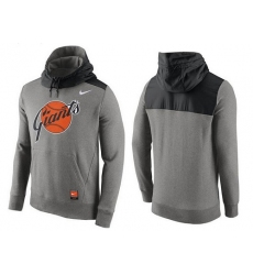 MLB Men's San Francisco Giants Nike Gray Cooperstown Collection Hybrid Pullover Hoodie