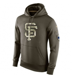 MLB Men's San Francisco Giants Nike Olive Salute To Service KO Performance Hoodie