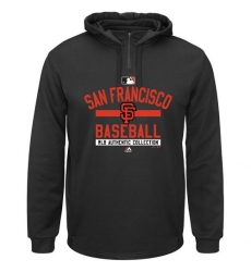 MLB San Francisco Giants Majestic AC Team Property On-Field Solid Therma Base Hoodie - Black