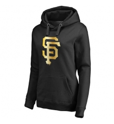 MLB San Francisco Giants Women's Gold Collection Pullover Hoodie - Black