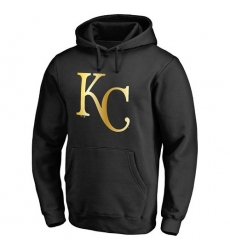 MLB Kansas City Royals Gold Collection Pullover Hoodie - Black