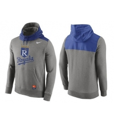 MLB Men's Kansas City Royals Nike Gray Cooperstown Collection Hybrid Pullover Hoodie