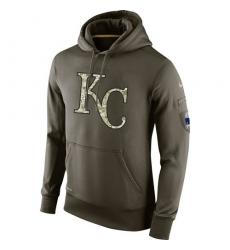 MLB Men's Kansas City Royals Nike Olive Salute To Service KO Performance Hoodie