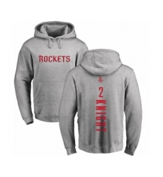 NBA Nike Houston Rockets #2 Brandon Knight Ash Backer Pullover Hoodie