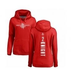 NBA Women's Nike Houston Rockets #2 Brandon Knight Red Backer Pullover Hoodie