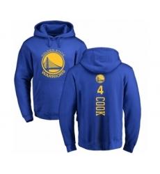 NBA Nike Golden State Warriors #4 Quinn Cook Royal Blue Backer Pullover Hoodie
