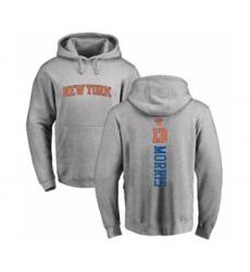 Basketball New York Knicks #13 Marcus Morris Ash Backer Pullover Hoodie