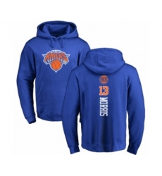 Basketball New York Knicks #13 Marcus Morris Royal Blue Backer Pullover Hoodie