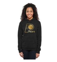 NBA Indiana Pacers Women's Gold Collection Ladies Pullover Hoodie - Black