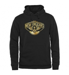 NBA Men's New Orleans Pelicans Gold Collection Pullover Hoodie - Black