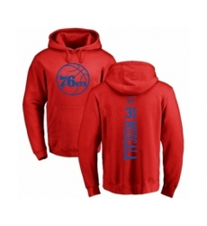 NBA Nike Philadelphia 76ers #31 Mike Muscala Red One Color Backer Pullover Hoodie