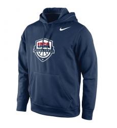 NBA Men's Team USA Basketball Nike Logo Pullover Hoodie - Navy