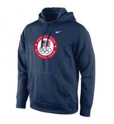 NBA Men's Team USA Nike Olympic Logo KO Pullover Performance Hoodie - Navy