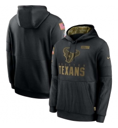 Men's NFL Houston Texans 2020 Salute To Service Black Pullover Hoodie