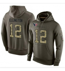 NFL Nike Houston Texans #12 Bruce Ellington Green Salute To Service Men's Pullover Hoodie