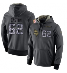 NFL Men's Nike Minnesota Vikings #62 Nick Easton Stitched Black Anthracite Salute to Service Player Performance Hoodie