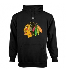 NHL Men's Chicago Blackhawks Old Time Hockey Big Logo with Crest Pullover Hoodie