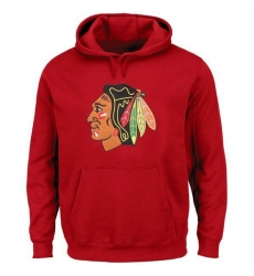 NHL Men's Chicago Blackhawks Rinkside Red Big & Tall Primary Logo Pullover Hoodie