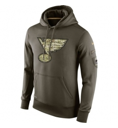 NHL Men's St. Louis Blues Nike Olive Salute To Service KO Performance Hoodie