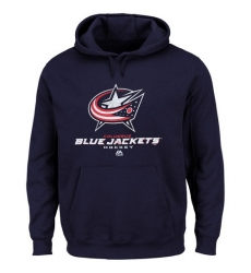 NHL Men's Columbus Blue Jackets Majestic Big & Tall Critical Victory Pullover Hoodie - Navy Blue