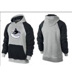 NHL Men's Vancouver Canucks Big & Tall Logo Hoodie - Grey/Black