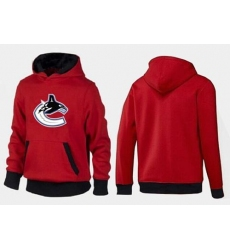 NHL Men's Vancouver Canucks Big & Tall Logo Hoodie - Red/Black
