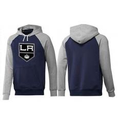 NHL Men's Los Angeles Kings Big & Tall Logo Hoodie - Navy/Grey