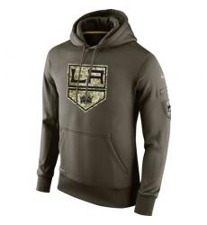 NHL Men's Los Angeles Kings Nike Olive Salute To Service KO Performance Hoodie