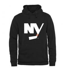 NHL Men's New York Islanders Rinkside Logo Pullover Hoodie - Black