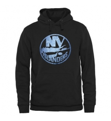 NHL Men's New York Islanders Rinkside Pond Hockey Pullover Hoodie - Black -