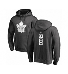 Hockey Toronto Maple Leafs #83 Cody Ceci Charcoal One Color Backer Pullover Hoodie