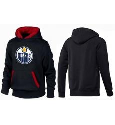 NHL Men's Edmonton Oilers Big & Tall Logo Hoodie - Black/Red