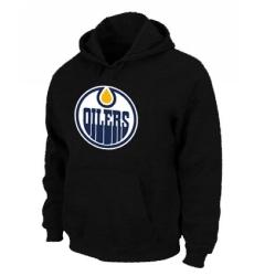 NHL Men's Edmonton Oilers Big & Tall Logo Hoodie - Black