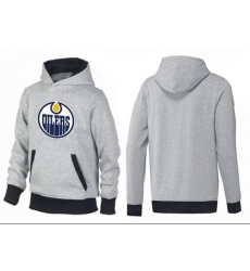 NHL Men's Edmonton Oilers Big & Tall Logo Hoodie - Grey/Black