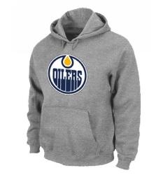 NHL Men's Edmonton Oilers Big & Tall Logo Hoodie - Grey