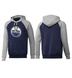 NHL Men's Edmonton Oilers Big & Tall Logo Hoodie - Navy/Grey
