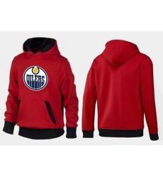 NHL Men's Edmonton Oilers Big & Tall Logo Hoodie - Red/Black